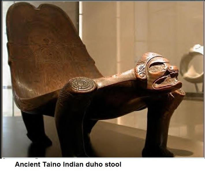 ancient Taino duho stool