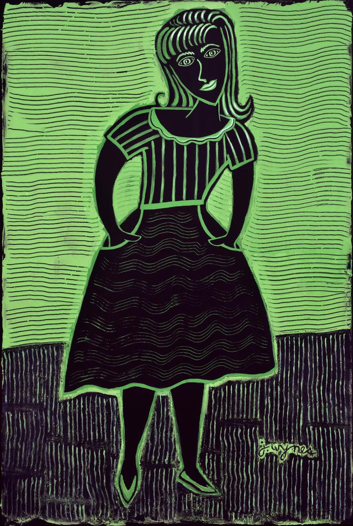 Full Green Lady