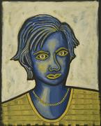 Blue Lady W/Beads