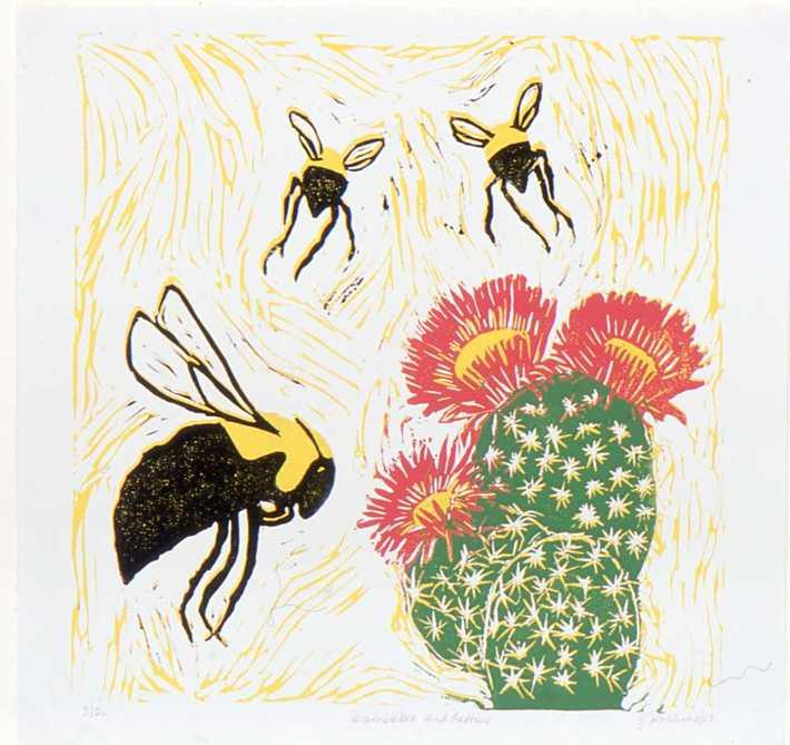 Bumblebee and Cactus