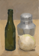Still Life with Green Bottle and Onion