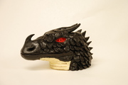 Black Dragon Bust: Left