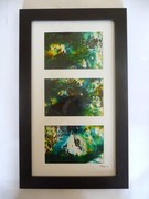 Set of 3 Ink Paintings on paper (mounted & framed)