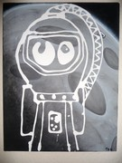 Spaceman Character Painting/Illustration