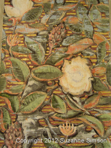 Magnolia Gold Stripes detail