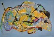 mono prints and mixed media