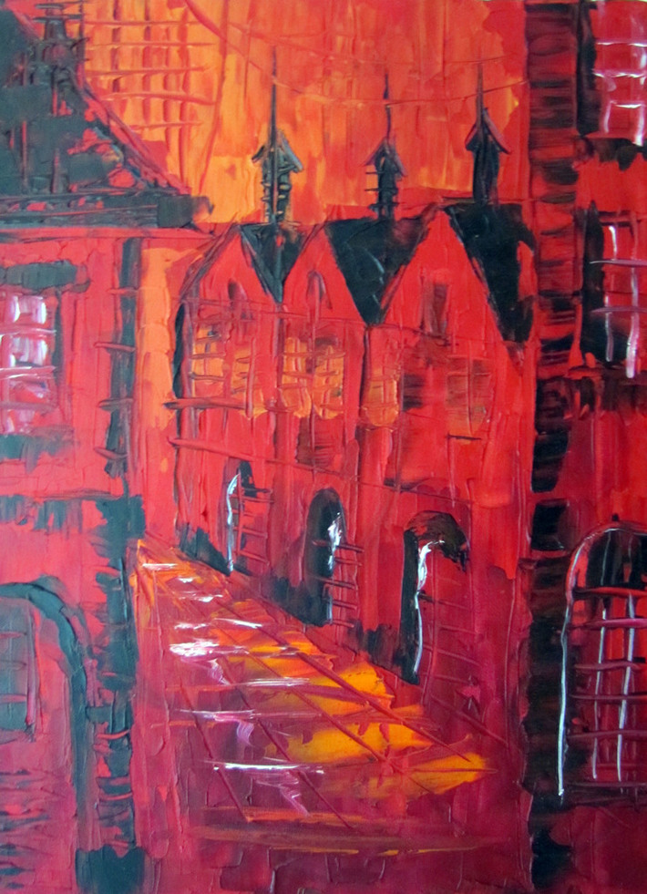 through red