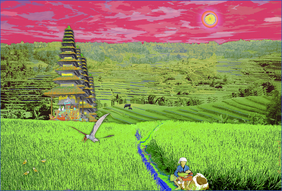 Temple in Rice Field3