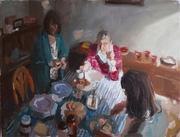 Three Women Eating
