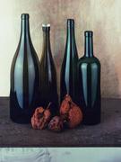 Three apples four bottles