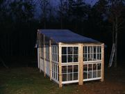 Greenhouse from recycled windows-back