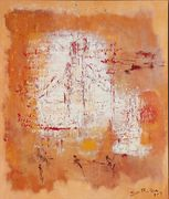 healer tempera on linen  85 x 100 cm