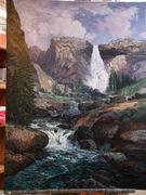Nevada Falls by Thomas Moran/ study by W Scott Fenton