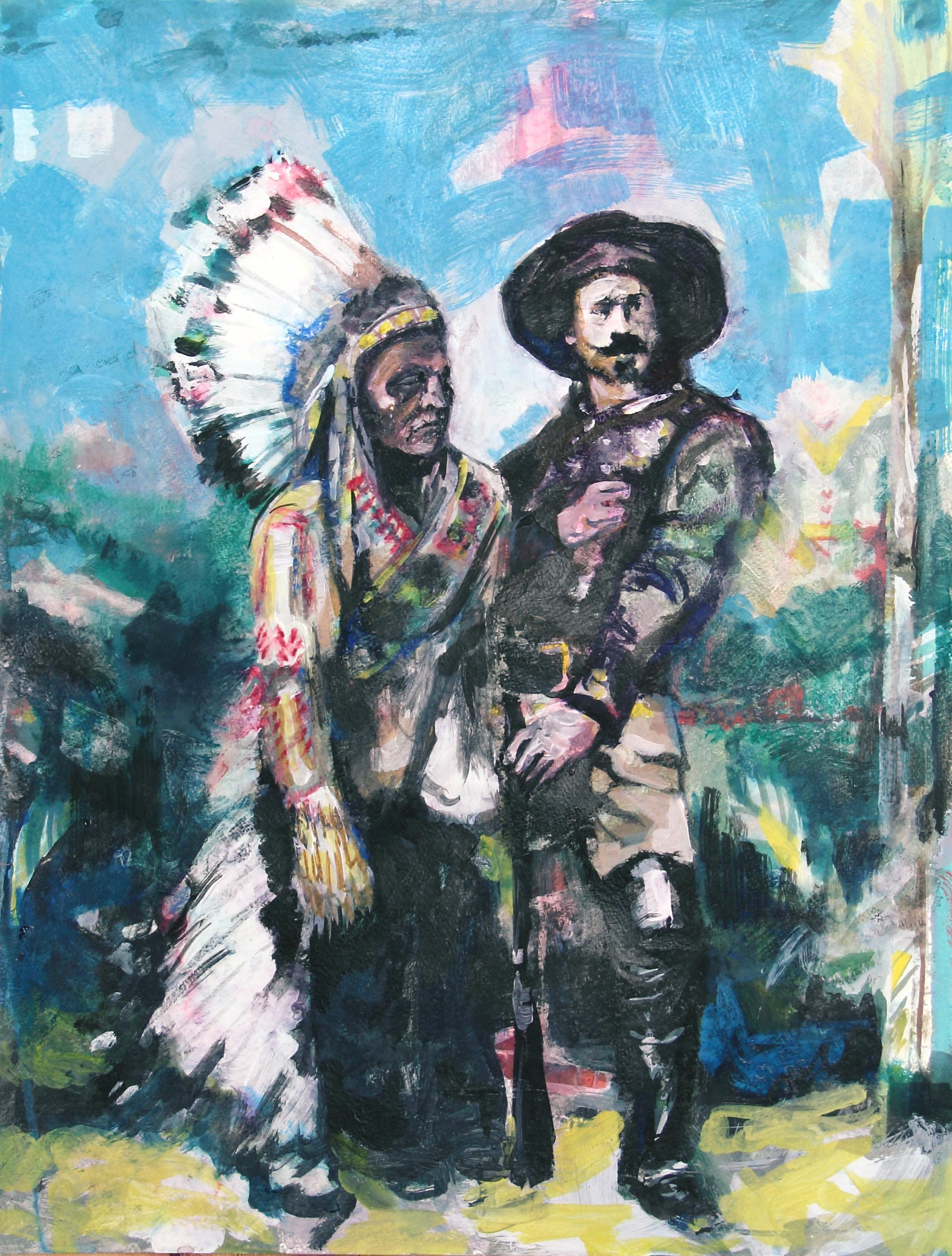 Sitting Bull & Buffalo Bill After the Show