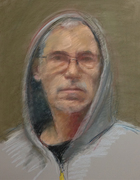 Self Portrait with Hooded Jacket