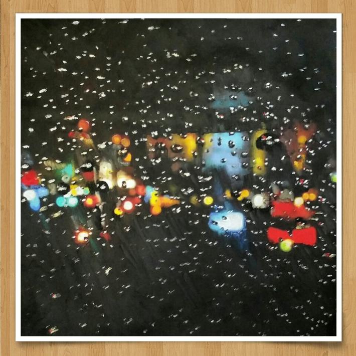 rain on my car window