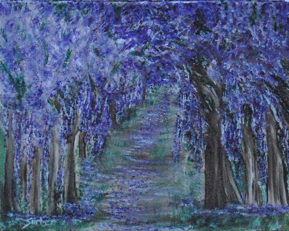 Blissful Walk Through Purple