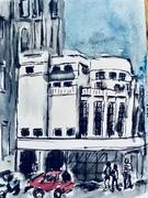 Urban sketching.
