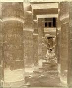 Félix Teynard: Karnak, Thebes (Palais, Salle Hypostyle vue transversale prise du point K)