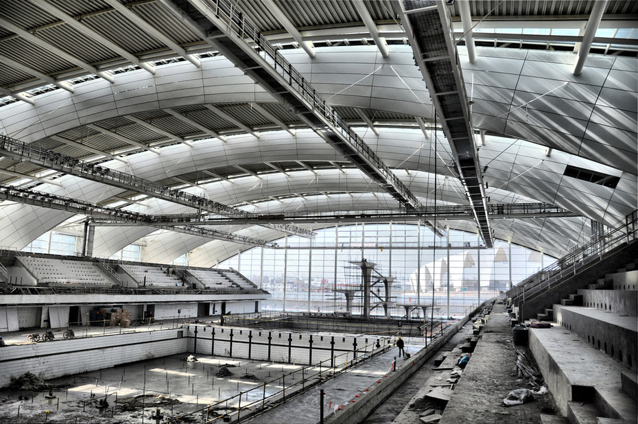 Shanghai Oriental Sports Center - Natatorium interior