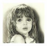 Obraz płaczącej dziewczynki
