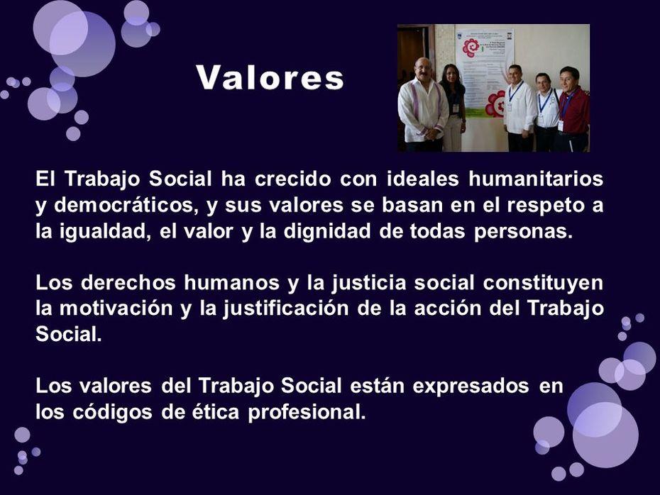 Valores del Trabajo Social
