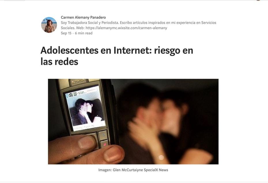 Adolescentes en internet: riesgo en las redes