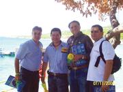 Con Jesus Franco, German Ramirez, y Alexis de Freitas