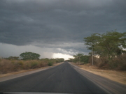 Carretera que va hacia Amapala
