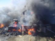 incendio de las bodegas de la Dirección Regional de Vialidad de Valdivia - Chile.