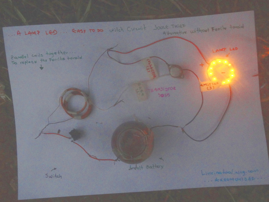 ...2N3055 Joule Thief Easy EkosOphia ...O...