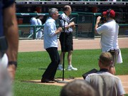 Taylor singing anthem at Tiger Stadium (Comerica Park) 6-25-09