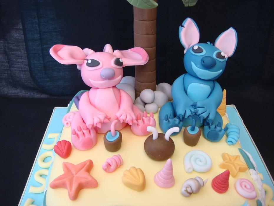 Fabulous Stitch Angel Birthday Cake Cake Decorating Community Cakes Funny Birthday Cards Online Alyptdamsfinfo