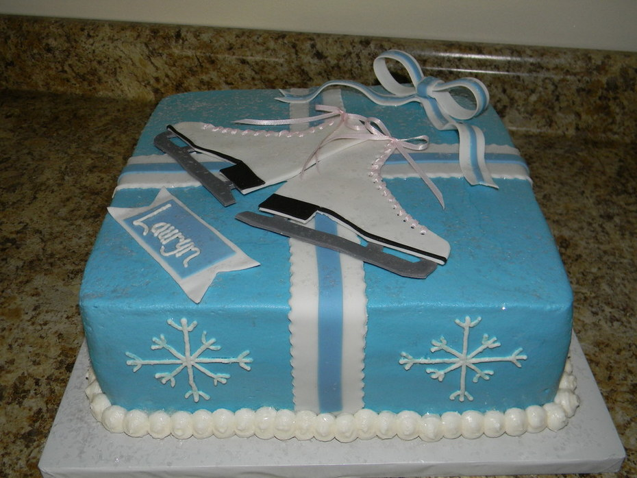 Sensational Ice Skate Birthday Cake Cake Decorating Community Cakes We Bake Personalised Birthday Cards Petedlily Jamesorg