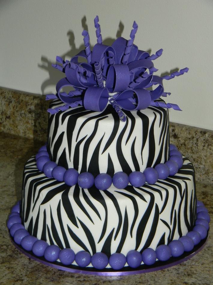 Fabulous Purple Zebra Birthday Cake Cake Decorating Community Cakes We Bake Funny Birthday Cards Online Amentibdeldamsfinfo