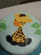Giraffe Cake top view