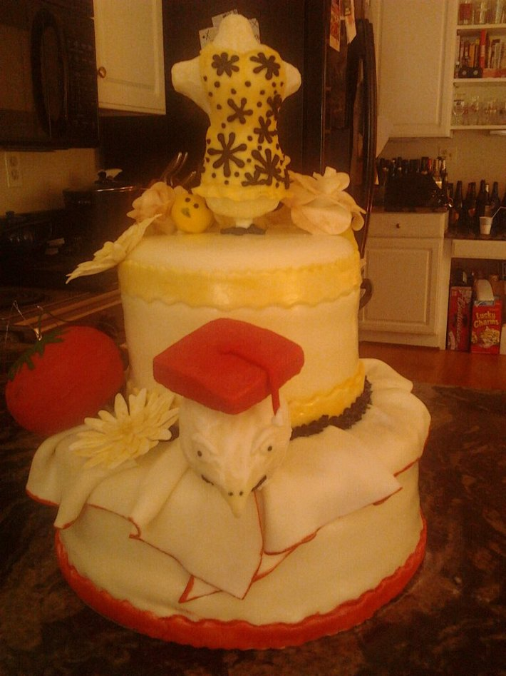 Designer Graduation Cake