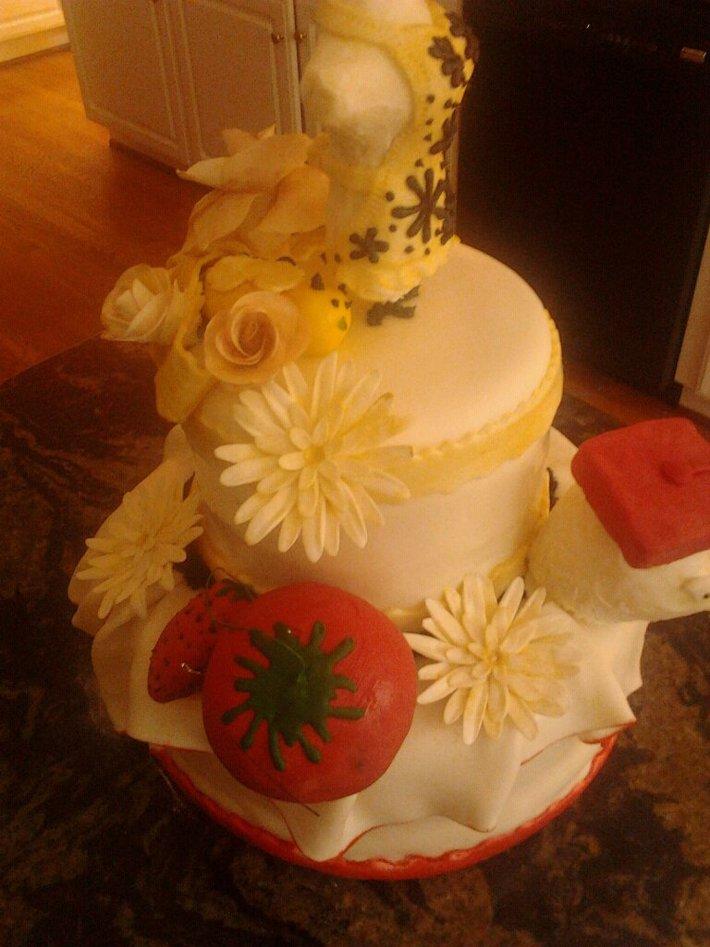 Fashion designer Graduation Cake
