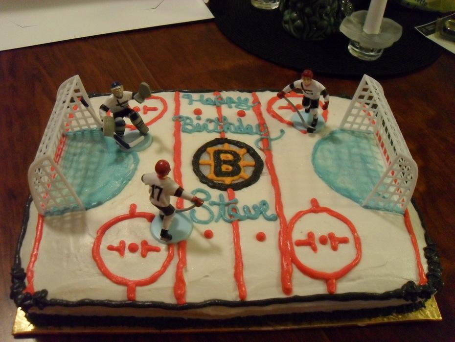 Boston Bruins Hockey Cake