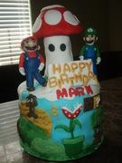 Super Mario themed cake
