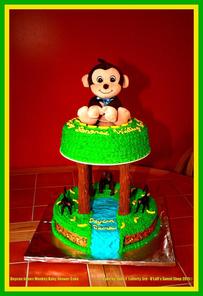 2011-9-24 Daycen James Monkey Baby Shower Cake