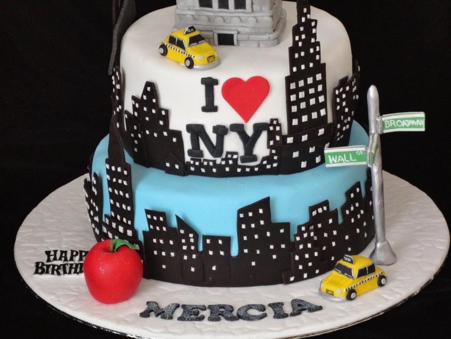 Admirable New York Cake Cake Decorating Community Cakes We Bake Funny Birthday Cards Online Elaedamsfinfo