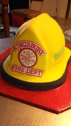 Fire Dept Helmet Cake