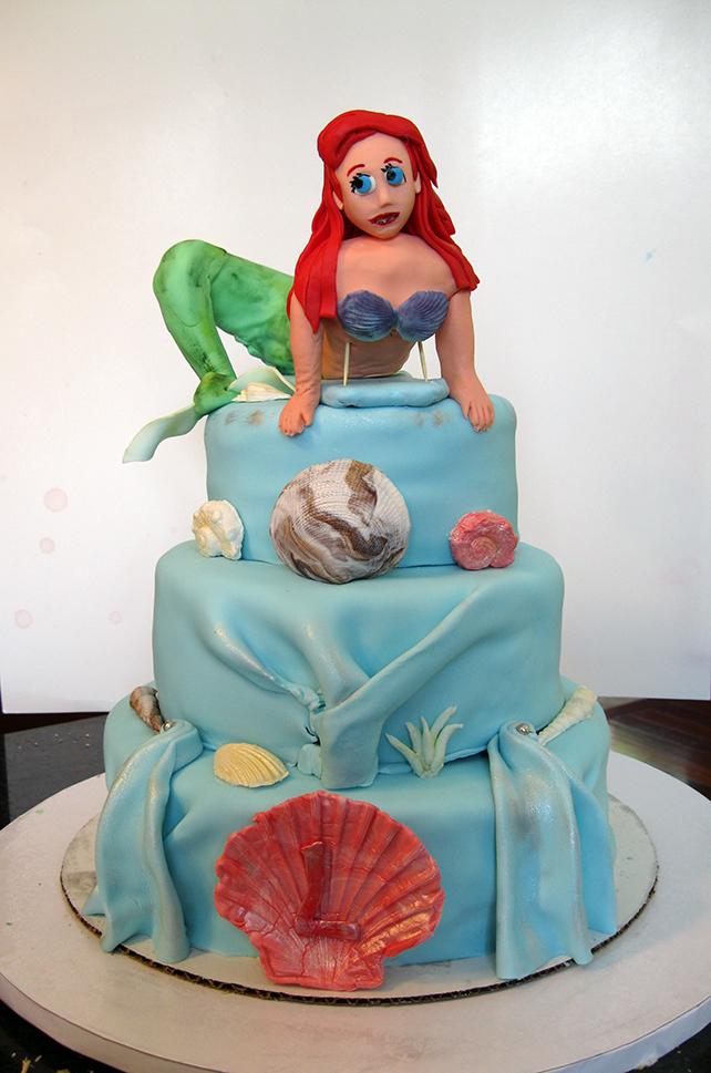 Remarkable Ariel Little Mermaid Birthday Cake Cake Decorating Community Funny Birthday Cards Online Alyptdamsfinfo