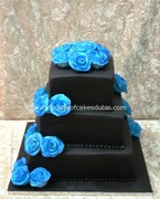 3tier with blue roses