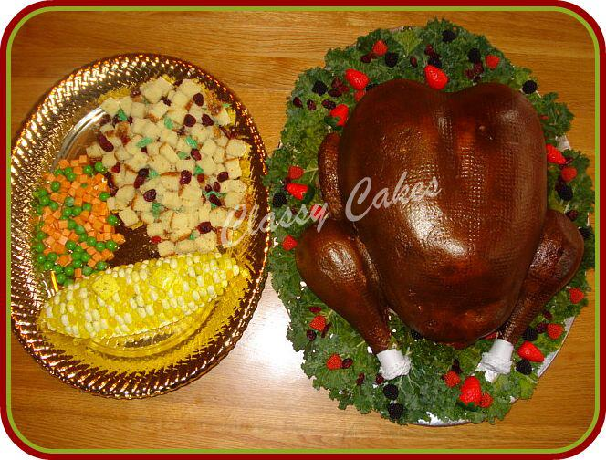 Thanksgiving Turkey With Side Dish