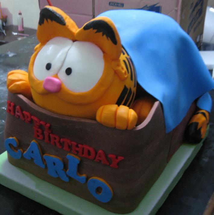 Miraculous Garfield Cake Cake Decorating Community Cakes We Bake Personalised Birthday Cards Veneteletsinfo