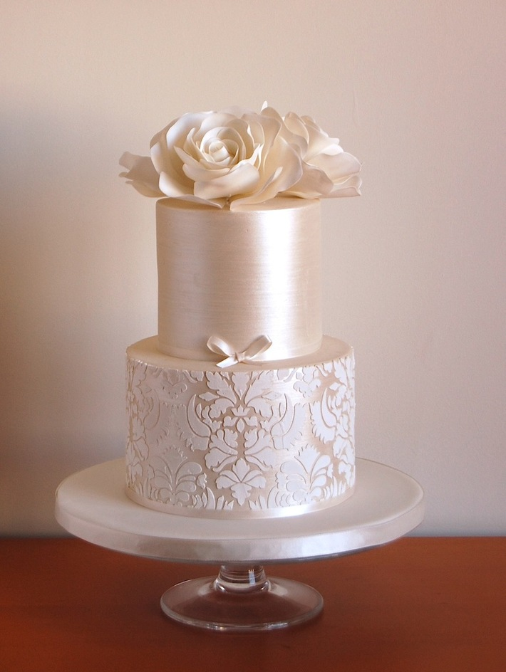 Rose  Wedding Cake Stencil