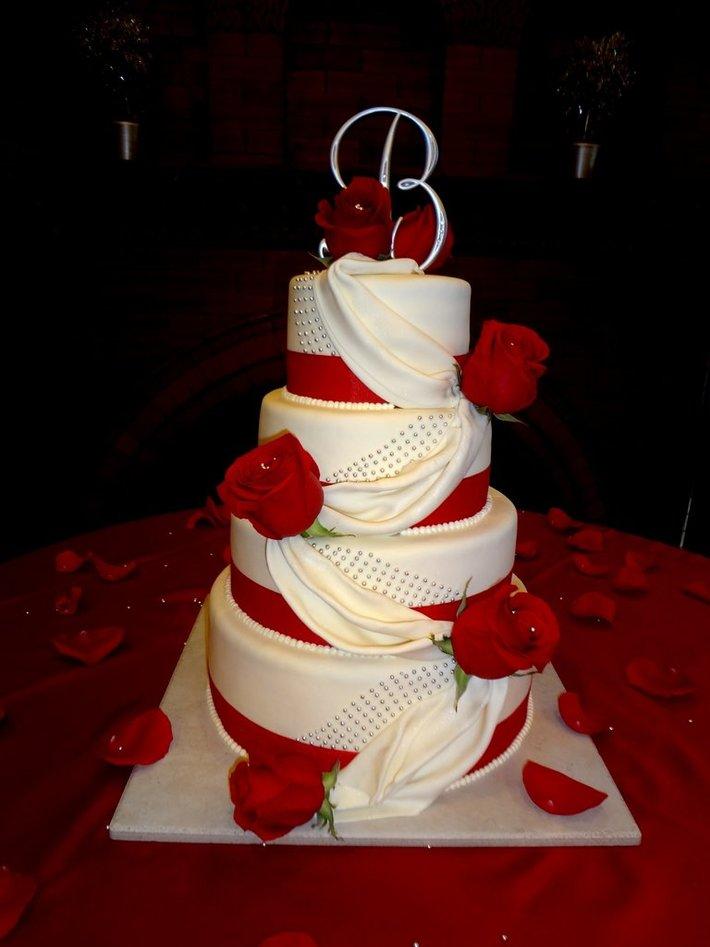 RoseDrapingWedding cake-114F