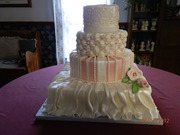 Victorian Elegance: Fabric Cake Contest